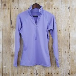 Nike Lavender Quarter Zip Workout Long Sleeve (M)